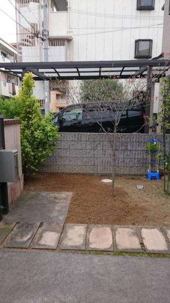 撤去後の庭