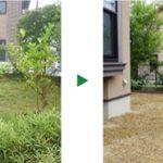 一戸建ての雑草対策にシートと砂利で防草工事 京都府木津川市
