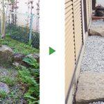 空き家の雑草対策で防草シート張り 大阪市東淀川区