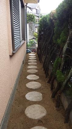 歩きやすい飛び石