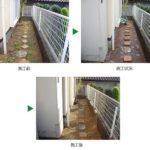 雑草対策のため、防草シートを施工 兵庫県宝塚市