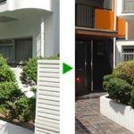 マンションの植え込みのお手入れ 刈り込み 大阪市旭区