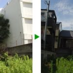 空き地での10mの植木の採伐<家主立会いなし>〜植木屋の大仕事 大阪市東住吉区