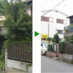 塀よりも高い植木の剪定 大阪市旭区の日本家屋