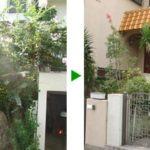 強風対策・台風対策で行う植木の採伐と剪定 豊中市