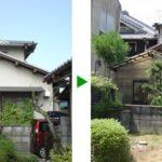 お庭の維持管理費を抑えた計画<伐採の場合> 奈良市