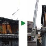 カシ、マキ、ヒラドツツジの剪定と薬剤散布~兵庫県神戸市長田区~