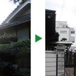 植木の伐採・剪定 ~7mのマツや2mのツバキなど~大阪市旭区