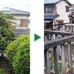 蜘蛛の巣にお困りのお客様から、伐採のご依頼 奈良県奈良市