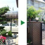 大阪府箕面市にて庭木の剪定~マキとチャボヒバ~