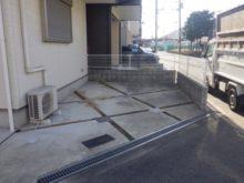 自宅駐車場に防草シート・砂利敷きをした事例 作業前写真