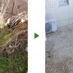 雑草を生えなくする! マンション専用庭の防草工事 和歌山県和歌山市