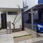 花壇の防根シート工事|オリーブの根が舗装された駐車場を壊すのを防ぎたい 奈良市
