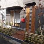 新築住宅のお庭にユズなど柑橘系の木を植栽 粘土質の土を改良 大阪市鶴見区