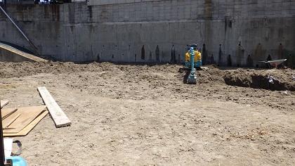 工事前の畑の整地
