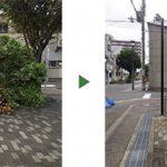 台風で木が倒れた|マンション歩道の根こそぎ倒れた木を撤去 大阪府堺市東区