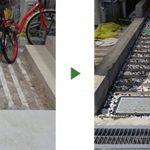 小さな玄関アプローチへの砂利敷き|雑草対策と砂利の飛散対策 大阪市住吉区