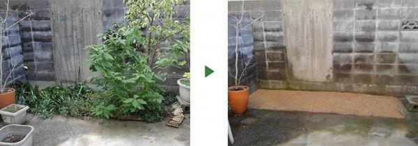 花壇整備前後