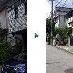 立ち会いなしで空き家の木を全部伐採~写真で仕上がりを確認~ 大阪市城東区