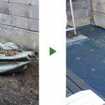 お庭の雑草対策~防草シートを10㎡に施工~ 大阪市住吉区の一戸建て