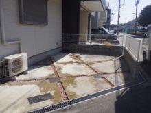 自宅駐車場に防草シート・砂利敷きをした事例 作業後写真