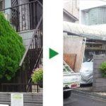 枝が伸びきってしまったコノテガシワの剪定 大阪府堺市北区