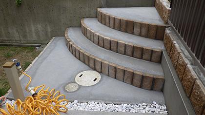 設置した階段